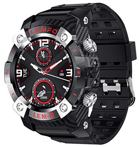 XWZ Reloj Inteligente Bluetooth 5.0 con Auriculares Inalámbricos 2 En 1 Reloj Inteligente con Pulsera Reloj De Pulsera para Hombres Reloj Rastreador De Ejercicios