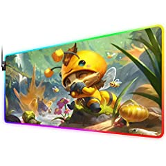 【PERFECT SIZE】31.5 x 12 x 0.16 inch will fit your desktop perfect and provide perfect movement space. This large gaming mousepad is suitable for all types of keyboards and mouse, offering plenty of room for your operation. 【RGB GAMING MOUSE PAD】This ...