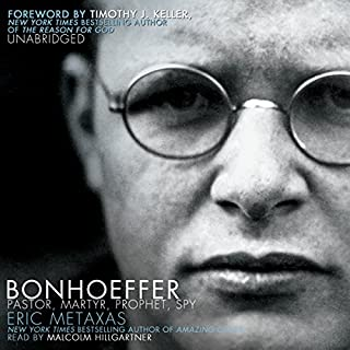 Bonhoeffer     Pastor, Martyr, Prophet, Spy: A Righteous Gentile vs. the Third Reich              De :                                                                                                                                 Eric Metaxas                               Lu par :                                                                                                                                 Malcolm Hillgartner                      Durée : 22 h et 33 min     1 notation     Global 5,0