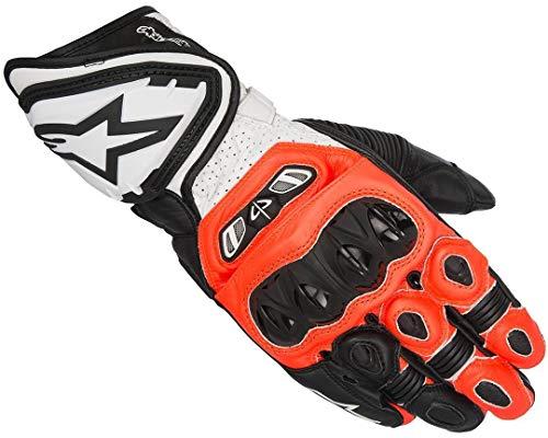 Alpinestars Alpinestars-Handschuhe Moto-GP Tech Schwarz Rot Neon Weiß XL Noir/Rouge Fluo/Blanc