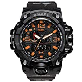 WAZA Military Watch Hombres, Reloj Deportivo Fit Reloj Impermeable Luces Nocturnas Cronómetro Relojes Digitales