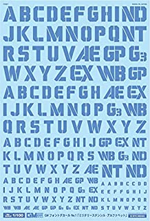 GM-174 1/100 GM フォントデカール No.1「ミリタリーステンシル・アルファベット」【クールブルー】汎用 水転写デカール グッドマークデカール MYK DESIGN [アシタのデカール]