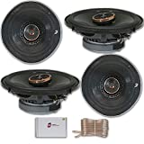 4 x Infinity REF-6522ix 6.5-inch 2-Way Car Audio Coaxial Speakers 6-1/2' 6522ix with DiscountCentralOnline 50ft Speakers Wire