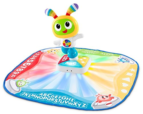 Fisher-Price Bebo Tapis de danse et de jeu, musical et interactif avec 2 Modes, version française, pour bébé de 9 mois et plus, DTB18