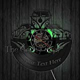 xcvbxcvb Arte de la Pared del Coche Relojes de Pared Decorativos Reloj de Pared con Disco de Vinilo Retro Relojes Hechos a Mano Relojes Regalos de inauguración de la casa para jóvenes