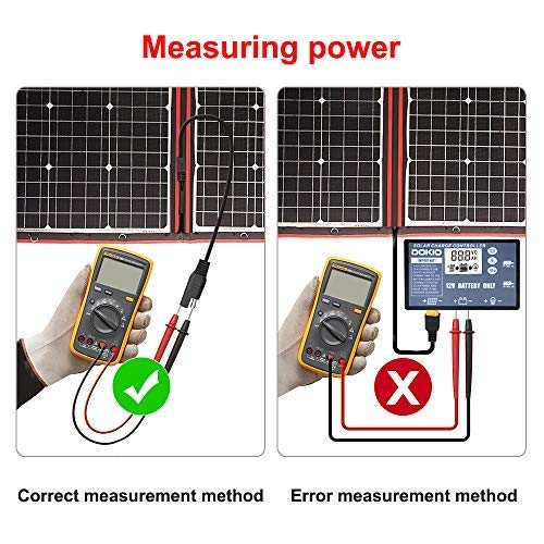 DOKIO-300W-18V-Solar-Panel-Kit-Monocrystalline-Portable-Flexible-Folding-include-Solar-Charge-Controller-and-PV-Cable-for-12V-Battery-Charging-Camper-Van
