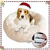 Docatgo Pet Bed Super Soft Dog Bed,Self Warming Luxury Shag Fuax Fur Donut