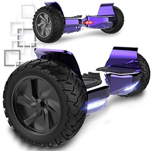 COLORWAY Hoverboard Elettrico Scooter a 8 Pollici con Bluetooth & LED Auto Balance E-Skateboard