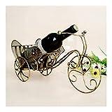 HJXSXHZ366 Estantería de Vino Estante del Vino Triciclo Retro elegantemente Decorado titulares de Tiendas de Regalo Decorativo Figurines Estante de Vino pequeño