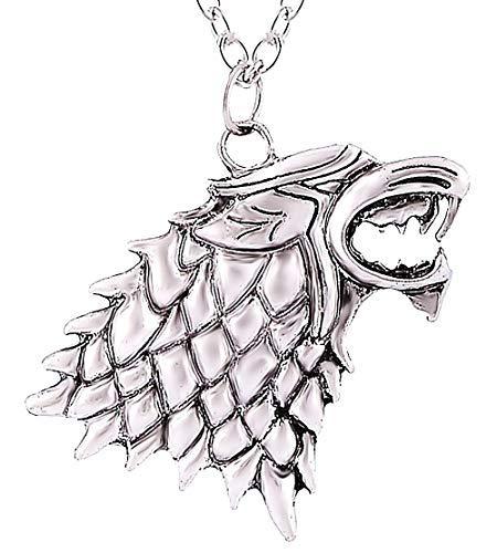 Inception Pro Infinite - Collar metálico de la casa Stark - Juego de Tronos - Juego de Tronos - Jon Snow Ocasión Especial