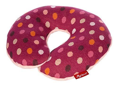 SIGIKID Mädchen, Nackenkissen Hoppe Dot mit Stützfunktion, Reisekissen, empfohlen ab 12 Monaten, lila/rosa, 39283