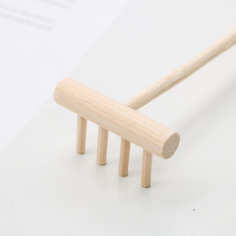 Margoth - Rastrillo de Herramientas para jardín Zen, 6 Piezas, 14 cm, Mini rastrillos de Arena para jardín Zen: Amazon.es: Jardín