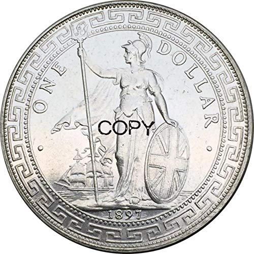 Eeng British Trade One Dollar 1897 Kong hong Yi Yuan Copy Commemorative Coin