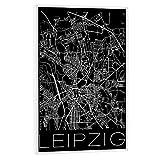 artboxONE Poster mit weißem Rahmen 60x40 cm Städte Retro