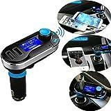 REALMAX® Kit mains libres Bluetooth MP3 Transmetteur FM Chargeur voiture pour iPhone HTC Samsung Blackberry Sony Nokia LG Argenté