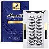 Magnetic Eyelashes with Eyeliner - Magnetic Eyelashes Natural Look Kit - Eyelashes Magnetic Eyeliner Kit with Eyelash Applicator Tool - 10 Pairs