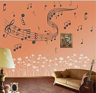 Hogar Cocina Arte Etiqueta de la pared Música Símbolo de la música Etiqueta de la pared Sala de estar Dormitorio Pvc Art Sticker Decal Pintura de pared Gris Claro 60 * 100 cm
