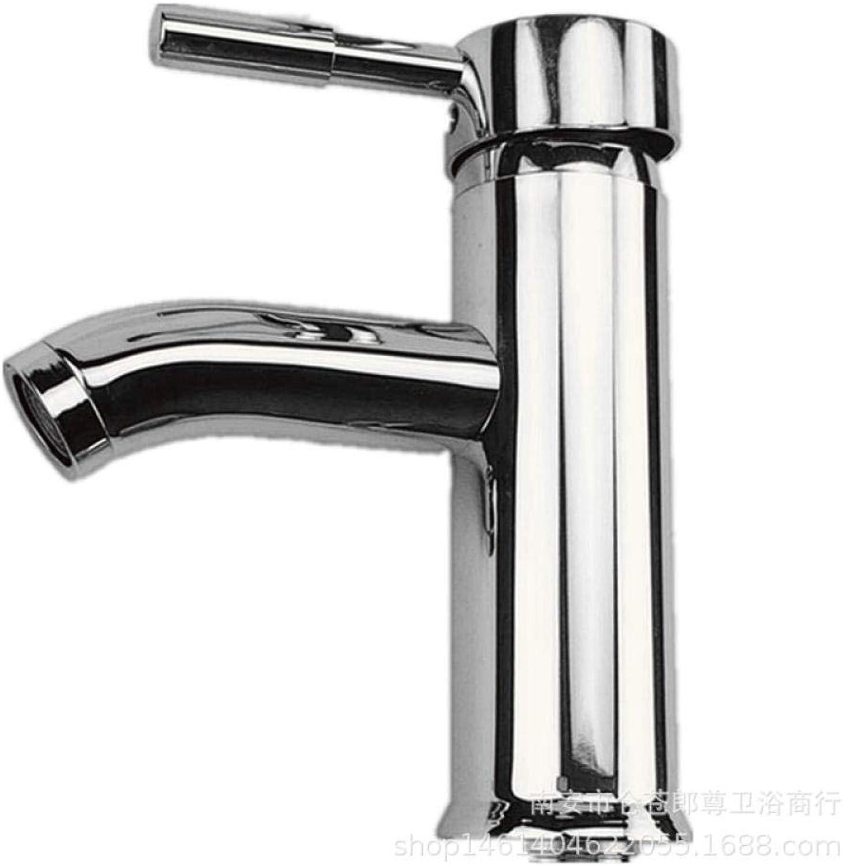 DOMOUDOHot und kaltes Wasser Wasserhahn_Edelstahl Einloch-Einzelwaschbecken Wasserhahn Waschbecken Wasserhahn heies und kaltes Wasser Wasserhahn