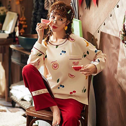 uwant:)sexy clothes Pyjamas Langarm Damen Herbst Baumwolle Heimtextilien Dünnschliff Frühling und Herbst Damen Langarm können @ XL_FDQ19411 getragen Werden