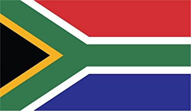 JMM Industries South Africa Flag Vinyl Decal Sticker iRiphabhuliki yaseNingizimu Afrika Car Window Bumper 2-Pack 5-Inches by 3-Inches Premium Quality UV-Resistant Laminate PDS535