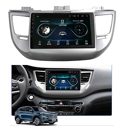ACEOLT Android 9.1 Autoradio 1080P HD Touchscreen Multimedia MP5 Player für Hyundai Tucson 2015-2018, GPS/FM/Bluetooth Autoradio und Navigationssystem