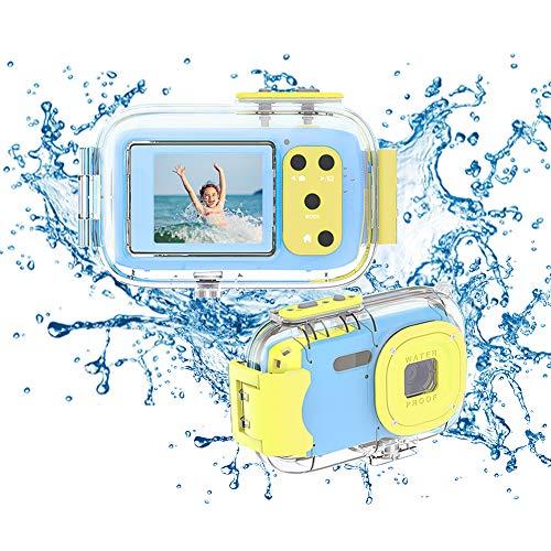 Macchina Fotografica Bambini Fotocamera Subacquea Digitale 8 MP 1080P HD Schermo da 2,0 Pollici IPS Fotocamera per Bambini con Custodia Protettiva in Silicone Morbido e Regalo di Festa