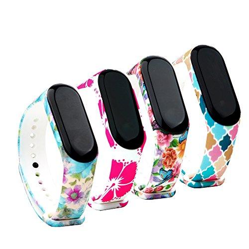 Fit-power Xiaomi Mi Band 3/4 Braccialetto di Ricambio Polso Cinturino di Ricambio per Smartwatch Xiaomi Mi Band 3/4 Intelligente Miband Bracciale