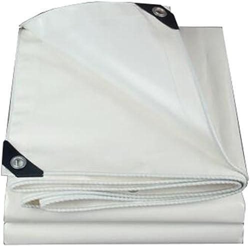 Le tapis blanc imperméable résistant de bache de tissu de bache de prougeection couvre la couverture extérieure de camping - 500g   m2, épaisseur 0.45mm (taille   5MX8M)