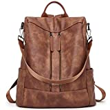 BROMEN Women Backpack Purse Leather Anti-theft Travel Backpack...
