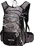 Mubasel Gear Insulated Hydration Backpack Pack with 2L BPA Free Bladder - Keeps Liquid Cool up to 4 Hours – for Running, Hiking, Cycling, Camping (Grey)
