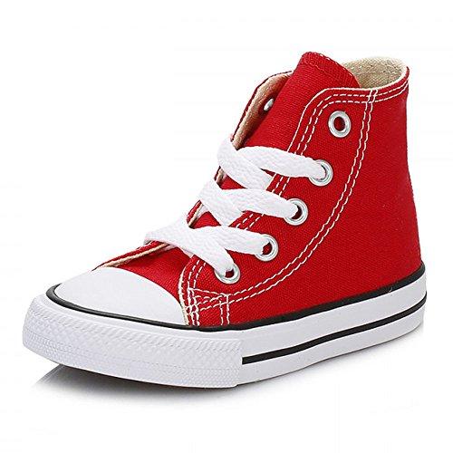 Converse Chuck Taylor All Star Core Hi Zapatillas de tela, Unisex - Infantil, Rojo, 23