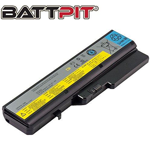 BattPit Laptop Battery for Lenovo L09S6Y02 L09L6Y02 L09M6Y02 L10C6Y02 L10P6Y22 IdeaPad G560E G570 G780 Z370 Z565 Z570 Z575 B570 B570e2 - High Performance [6-Cell/4400mAh/48Wh]