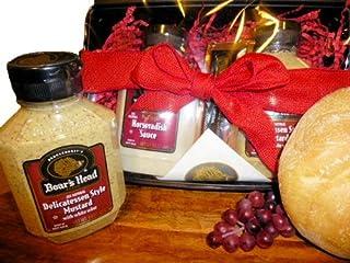 Specialty Foods Boar's Head Savory (2) Pack Gift Box - Deli Mustard & Horseradish Sauce