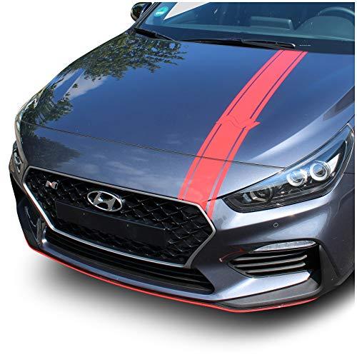 Finest Folia Folie für die Motorhaube Dekor für Haube Selbstklebend Carwrapping Auto Kfz Zubehör Design Aufkleber Passgenau D020 (3M 2080 Hotrod Red)