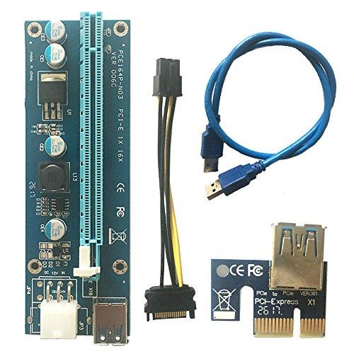 USB3.0 PCI-E Express 1x bis 16x Extender Riser Card -- Mining Dedizierte Grafikkarten Verlängerungskabel Adapter mit SATA Kabel