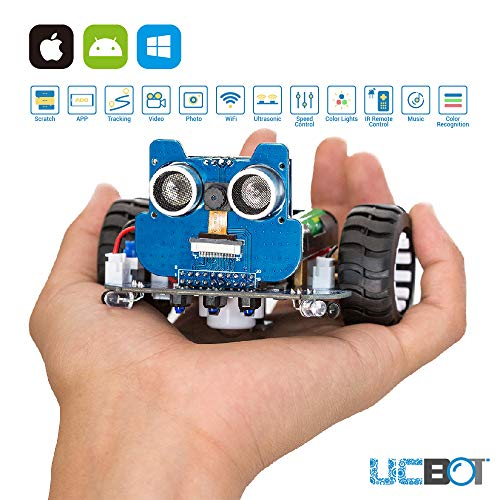 UCTRONICS Robot Kit with Camera, RC Car Kit for Kids and Teens to Build, Electronics Programmable DIY Coding Robotics by Scratch 3.0 / Arduino IDE