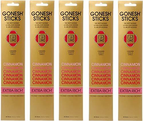 【5個セット】 GONESH(ガーネッシュ) お香 インセンス スティック エクストラリッチ シナモン 20本入