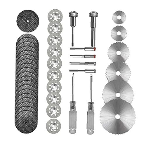 44 PCS del kit del corte de la rueda circular HSS Juego de sierra para los discos de corte rotativo de la herramienta de corte de resina Ruedas