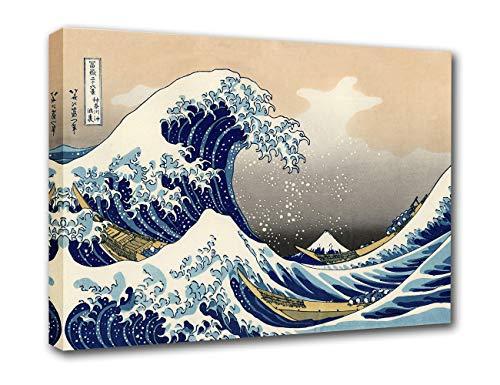 神奈川沖浪裏 葛飾北斎 富嶽三十六景 追加10景 共に46景 1832年版 ポスター 木枠付きの完成品