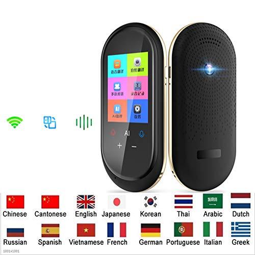 YANGFH Übersetzungsausrüstung Intelligentes Zwei-Wege-WLAN Geschäftsreisen Lernen Einkaufen 106 Sprachen Bilderkennung Echtzeit-Übersetzung Sprach-Foto-Übersetzungsausrüstung Übersetzer