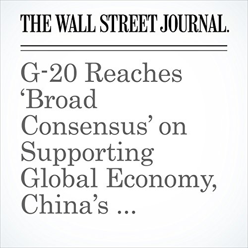 G-20 Reaches 'Broad Consensus' on Supporting Global Economy, China's Xi Jinping Says cover art