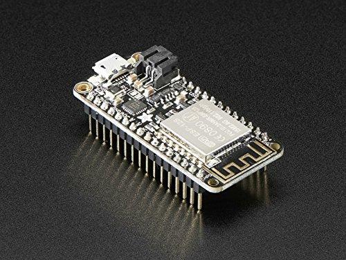 Adafruit Feather, vollständig zusammengebautes Entwicklungsboard Huzzah mit ESP8266WiFi-Modul mit Steckerstiften [3046]