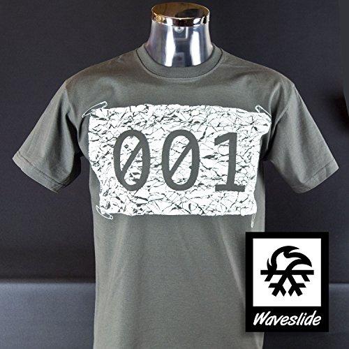 T-Shirt Marathon Joggen Startnummer Laufen von Waveslide