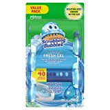 Scrubbing Bubbles Fresh Gel Toilet Bowl Cleaning Stamps, Gel Cleaner, Helps Prevent Limescale and Toilet Rings, Rainshower Scent, 1 dispenser and 24 gel stamps