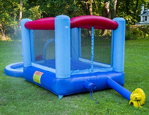 Kangaroo Kastle Inflatable Water Slide and Bounce House with Blower and Water Gun/Splash Pool for Kids