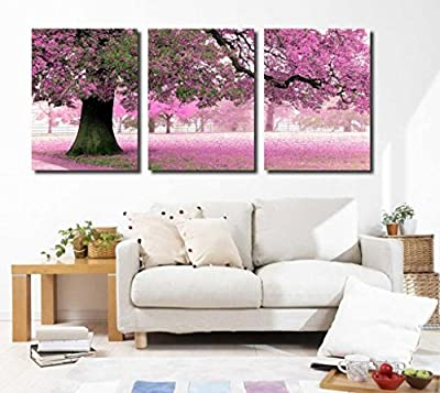 Large Canvas Wall Art Cherry Blossom Tree Picture set of 3