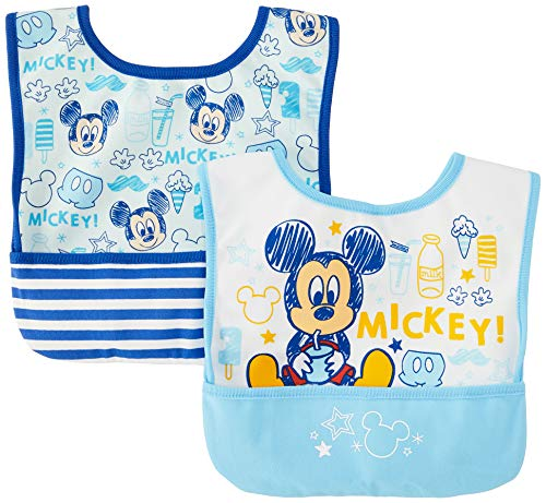 DISNEY BABY(ディズニーベビー) ミッキー&ミニー 2Pエプロン ミッキー 89 2枚 331105208