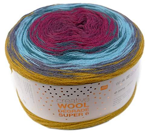 Rico creative Wool Dégradé Super 6 Fb. 06 Bobbel Farbverlaufswolle zum Häkeln u. Stricken