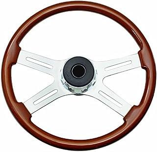 Woody's WP-SWF8901 Rosewood Chrome Truck Steering Wheel (Beautiful African Hardwood)