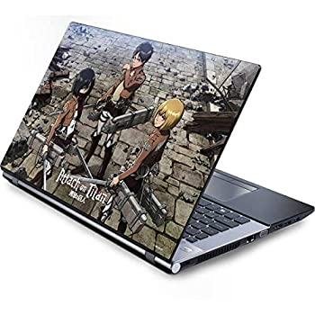 Skinit Decal Laptop Skin Compatible with Generic 17in Laptop  15.2in X 9.9in  - Officially Licensed Funimation Attack On Titan Destroyed Design